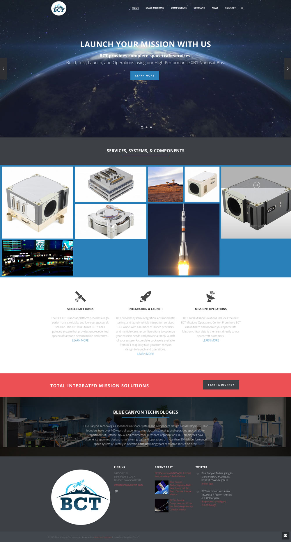 New Site Launch: Blue Canyon Tech